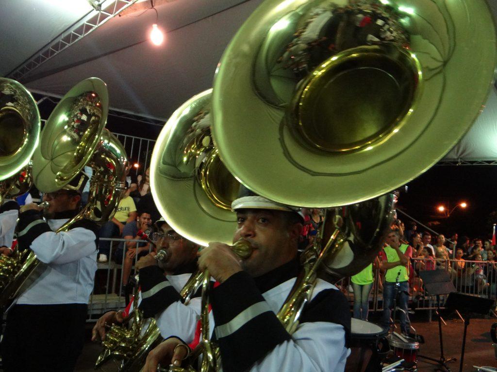 Banda Marcial SENAI Limeira SP ficou em 3º lugar (Foto: Antônio Carlos)