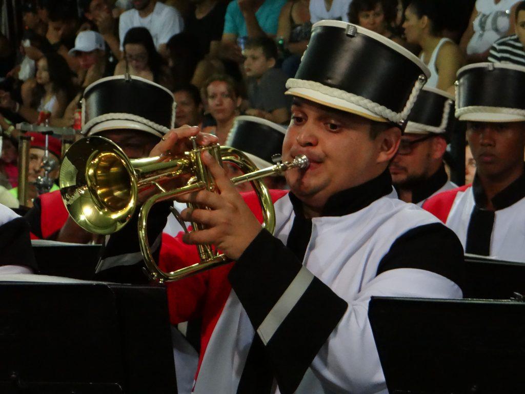 Evento reuniu bandas marciais, musicais e de percussão (Foto: Antônio Carlos)